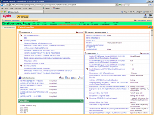 Epic Software EMR screenshot