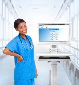 Medical Cart Computer Telehealth Technology