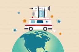 vaccine supply chain illustration
