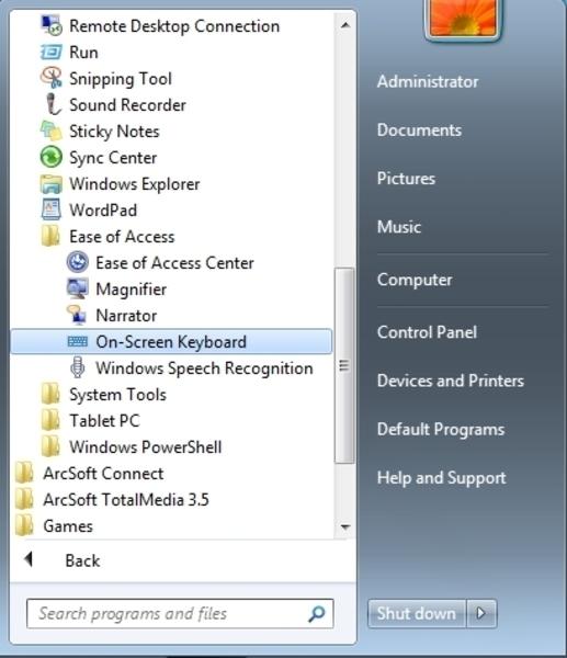 screen keyboard for pc