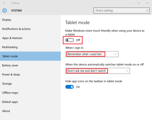 How to Disable Tablet Mode in Windows 10 | Cybernet KB