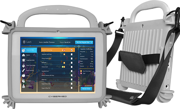 T10C Medical Tablet in a Rugged Protective Case and Carrying Strap