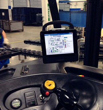 T10 Tablet on Forklift