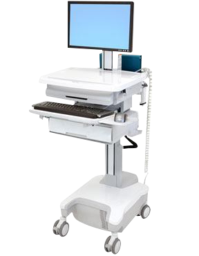 Powered Patient Cart with Drawer
