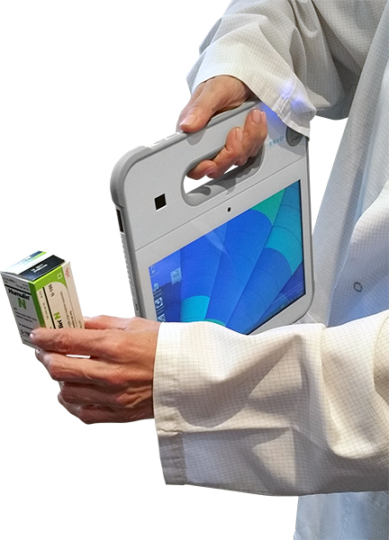One-handed Scanning of a Pill Bottle Using the CyberMed Rx Medical Tablet