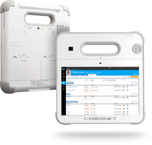 Rugged Medical Tablet with Completely Antimicrobial Exterior
