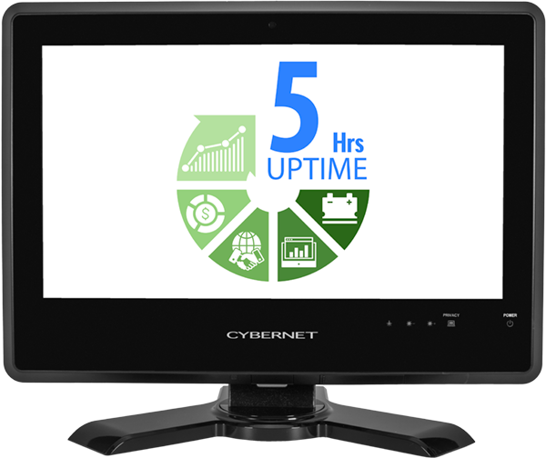 All In One Touchscreen PC with 5 Hours Uptime