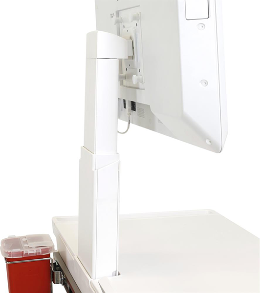 Antimicrobial Medical Cart with LCD Arm