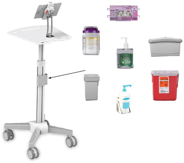 Customizable Medical Cart on Wheels