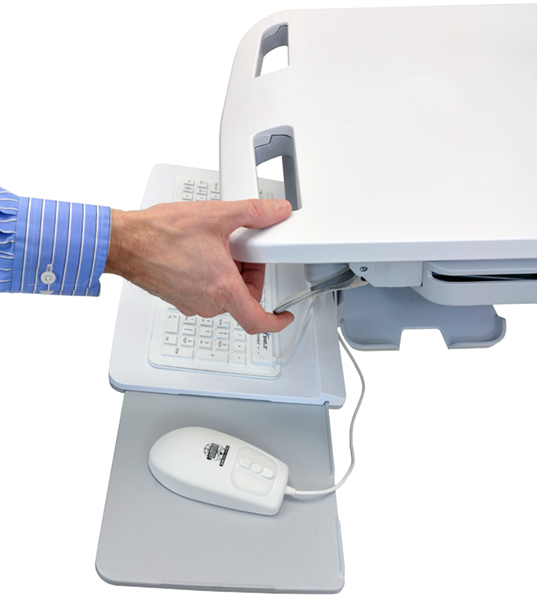 Ergonomic Medical Cart with LCD Arm