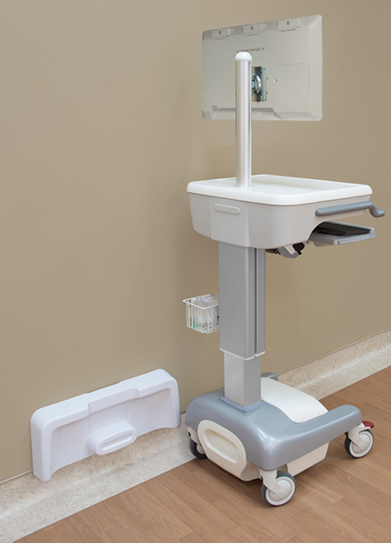 Medical Cart with Indusction Charging