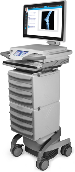 Medical Supply Cart with 8 Drawers
