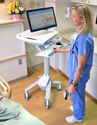 SV41-41002 Electronic Medical Record Cart in use