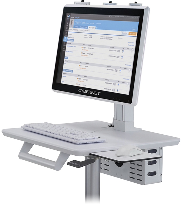 Medical Grade Monitor with Battery Charging Station