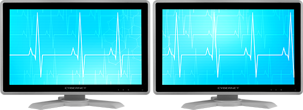 Medical Grade Monitor with Dual Displays