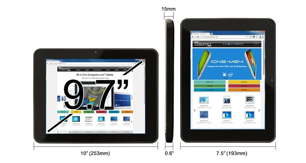 T10C Tablet Dimensions