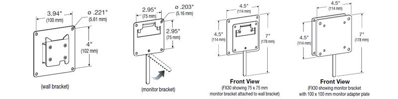 FX30 Wall mount for All in One PCs
